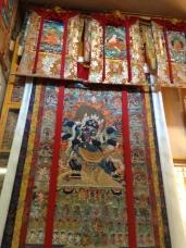 Thangka paintings at Tsuglagkhang