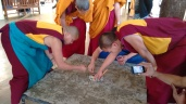 Monks drawing a mandal