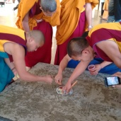 Monks drawing a mandal