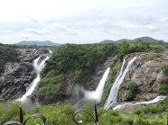 Gaganachukki falls as seen from Shivanasamudra watch tower