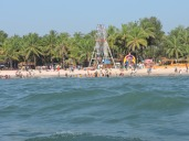 Malpe beach as seen from the ferry