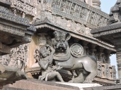 Hoysala emblem- Sala slaying a lion